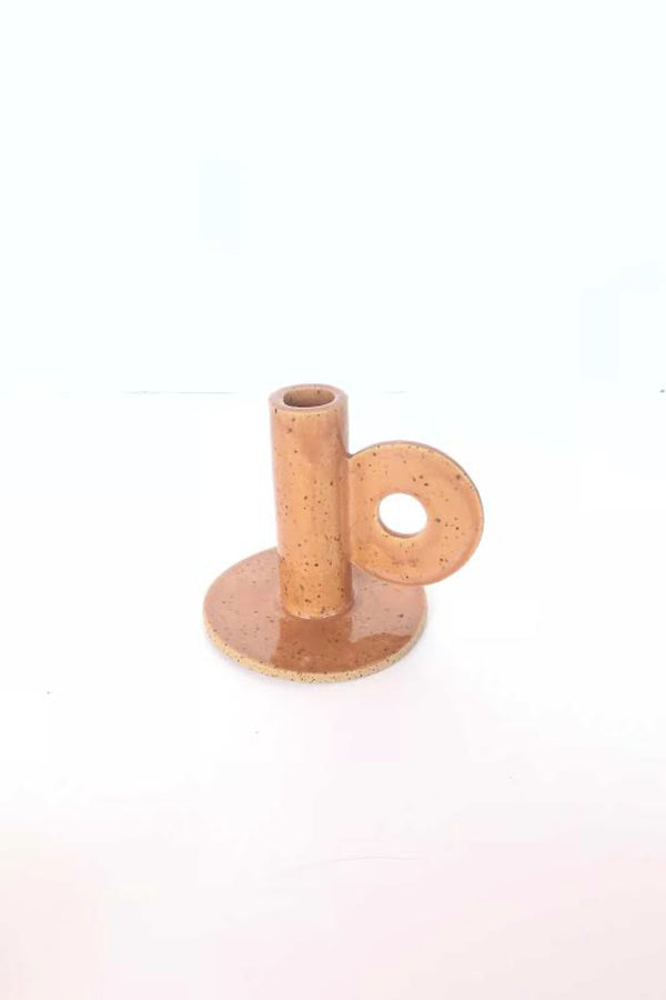Short Brick Loop Candle Holder