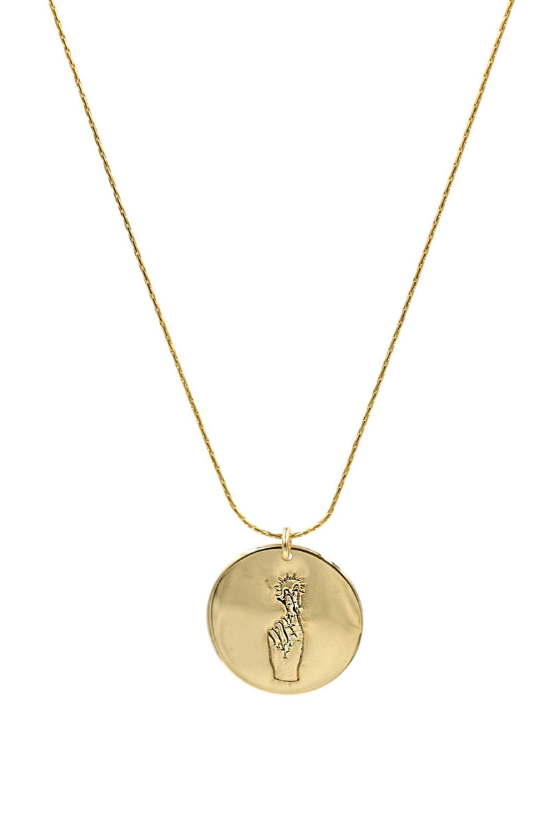 Gold Good Luck Coin Necklace