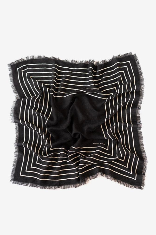 Black Wool Agnes Scarf