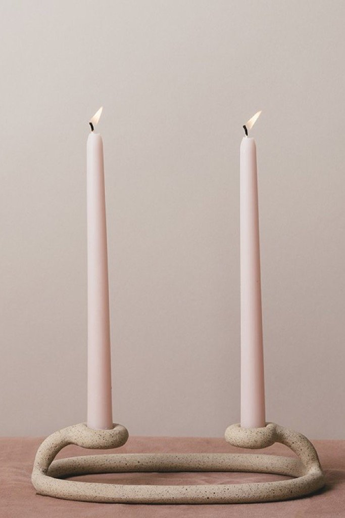 Speckled Duo Candlestick