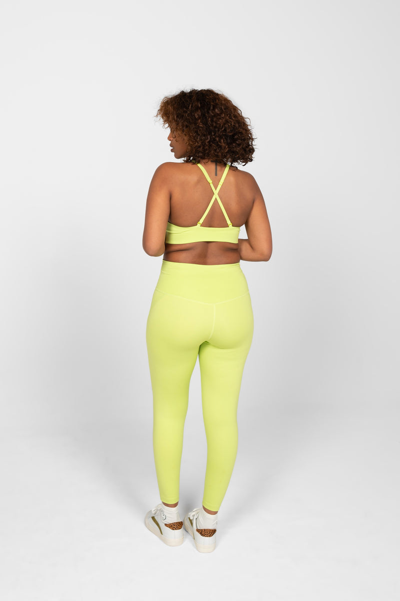 "23 3/4"" Lime Compressive High-Rise Legging"