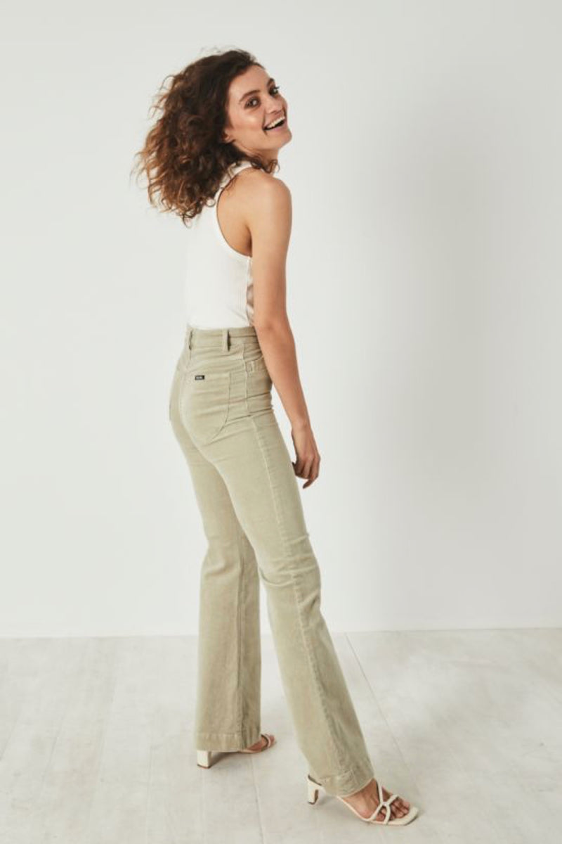 stretch high rise pants