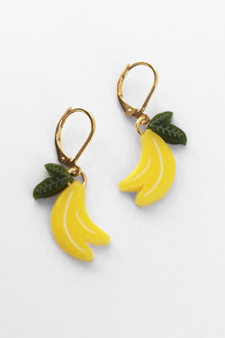 Large Banana Earrings