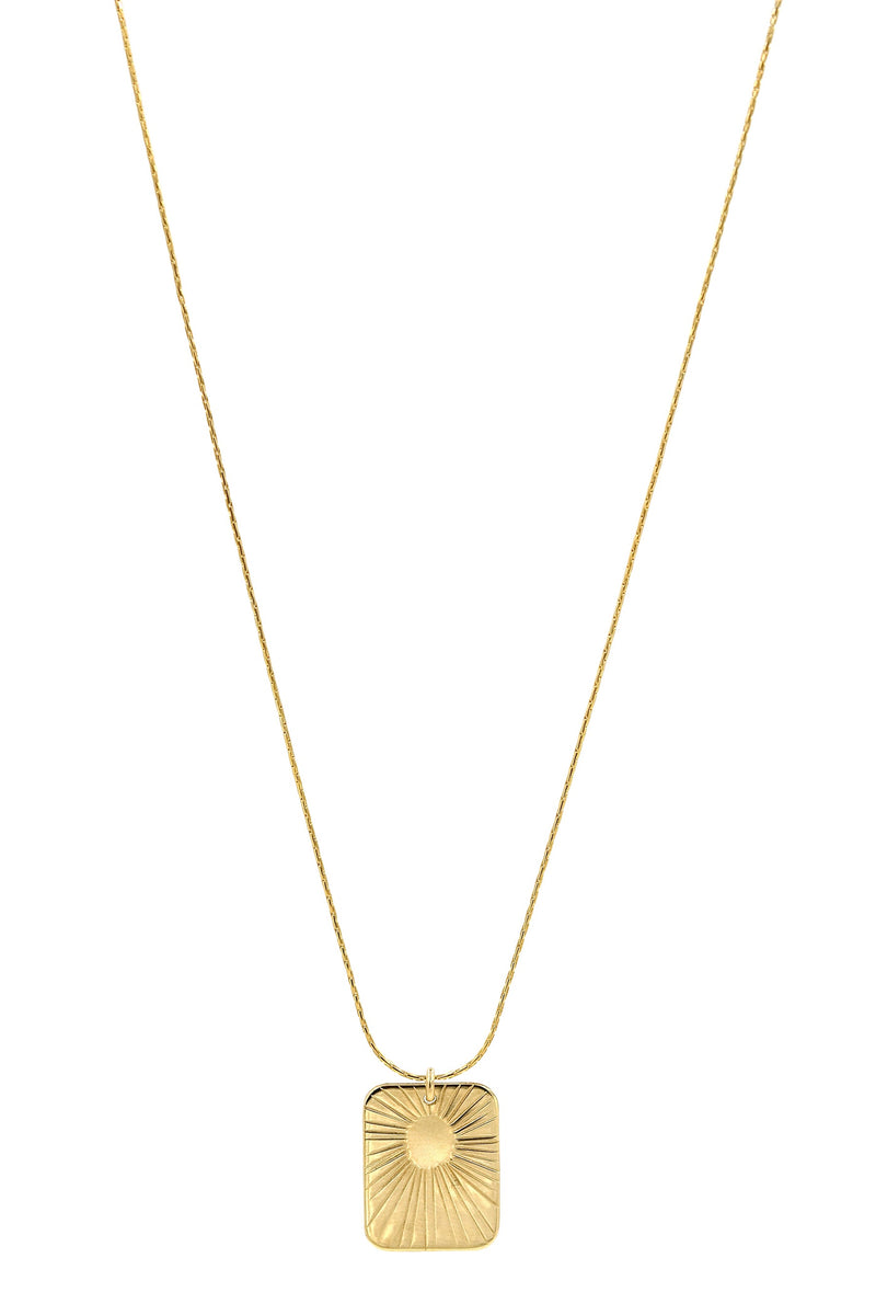 Gold Glow Rectangle Necklace