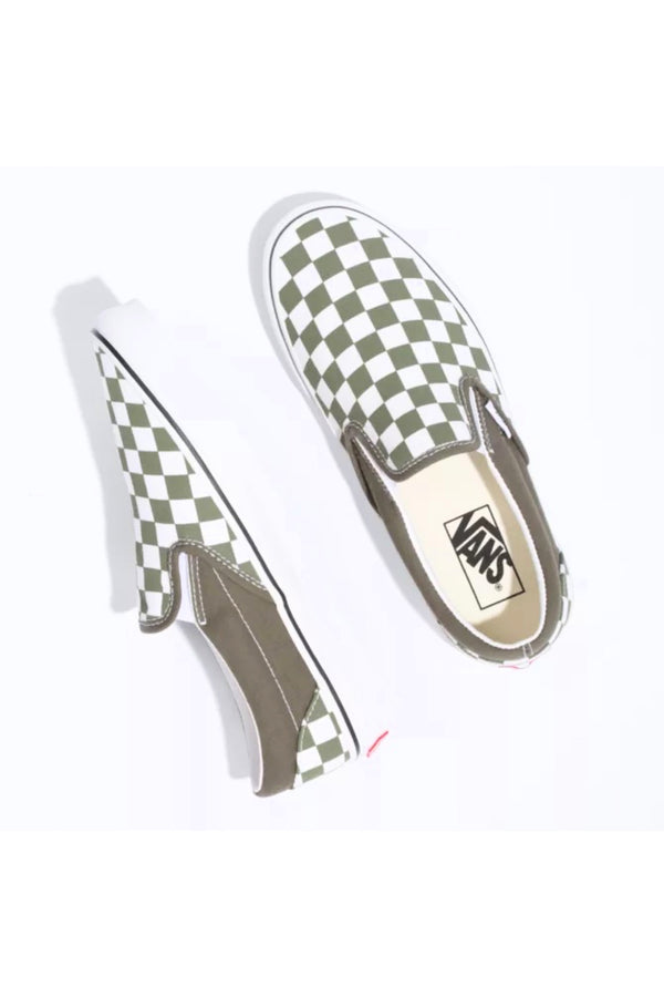 Grapeleaf Checkerboard Slip-On