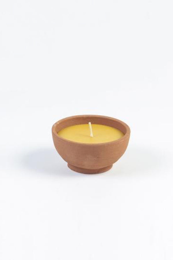 Small Terracotta Bowl Candle