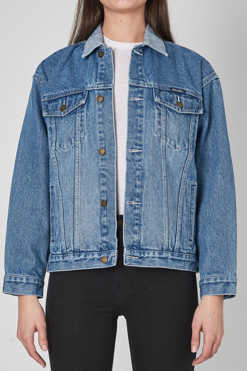 Tumbled Blue Slouch Jacket