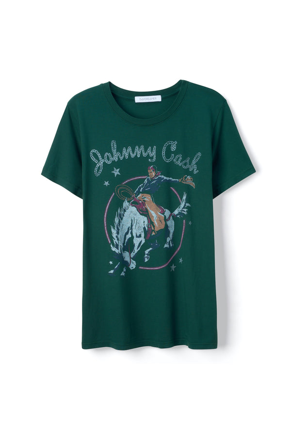 Emerald Johnny Cash Rodeo Tour Tee