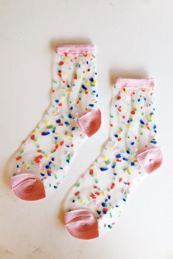 Confetti Sheer Socks