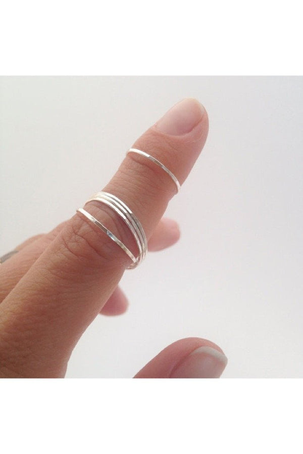 Silver Ultra Thin Stack Ring