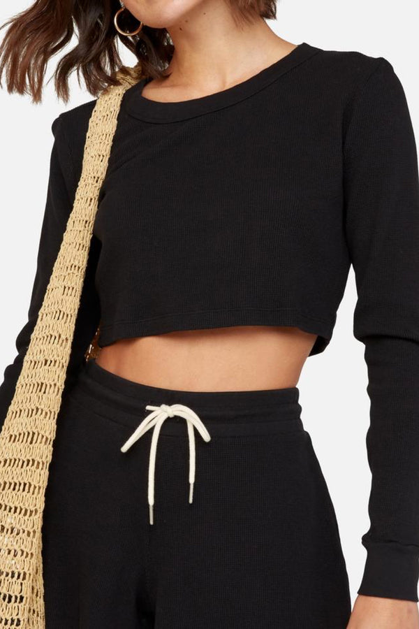 Jet Black Lane Crop Thermal