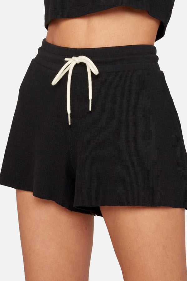 Jet Black Lincoln Thermal Shorts