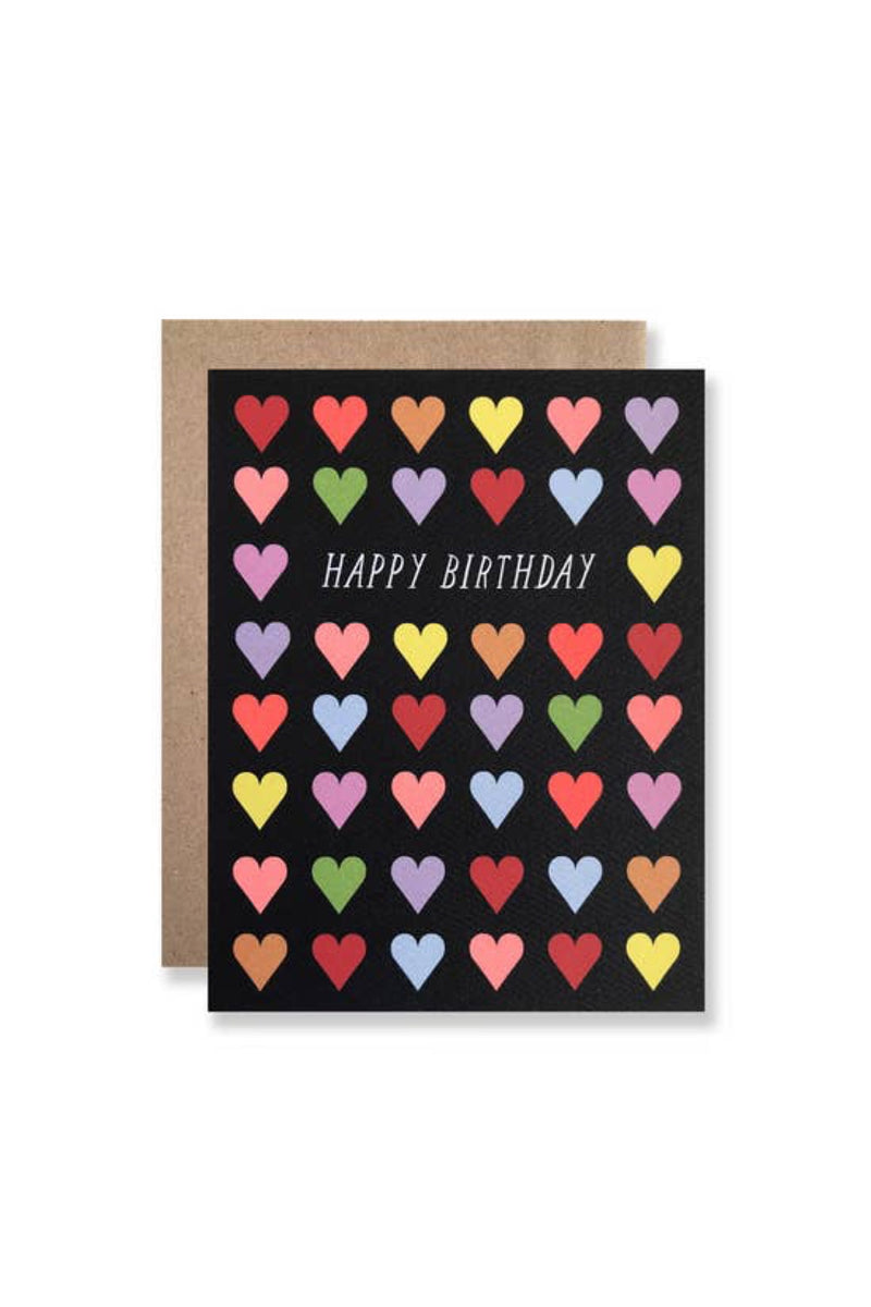 Happy Birthday Hearts Card