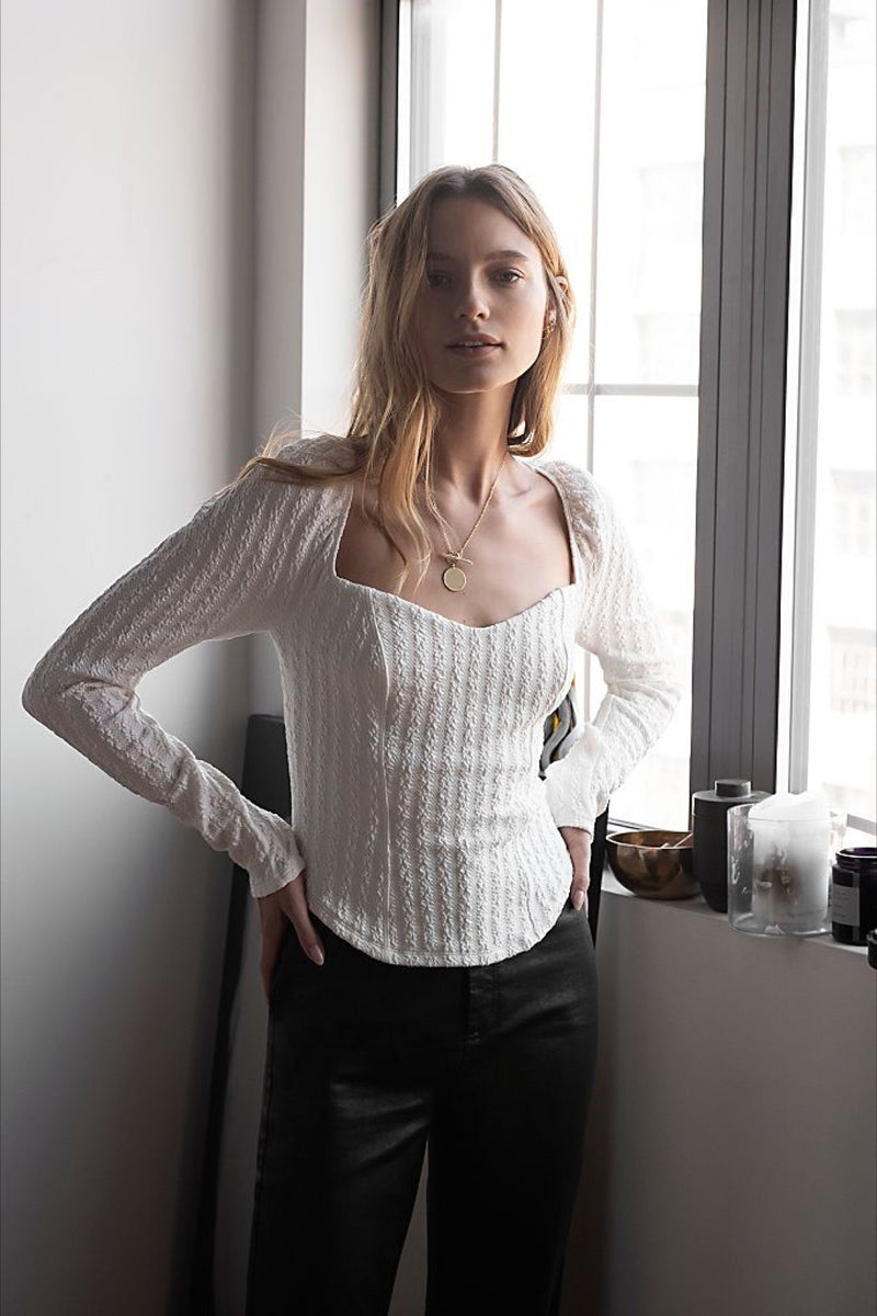 Winter White Brittany Top
