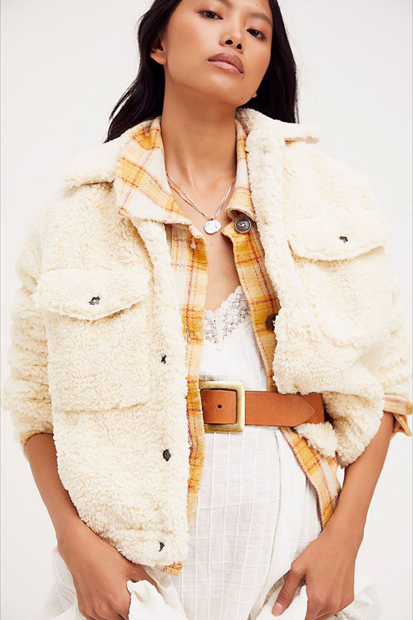 Chai Latte Teddy Swing Jacket
