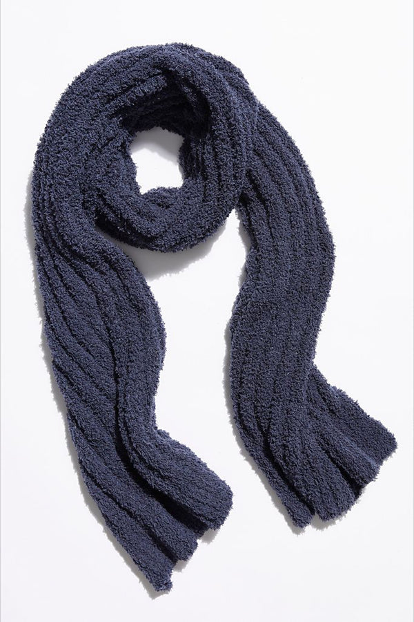 Navy Cloud Blanket Scarf