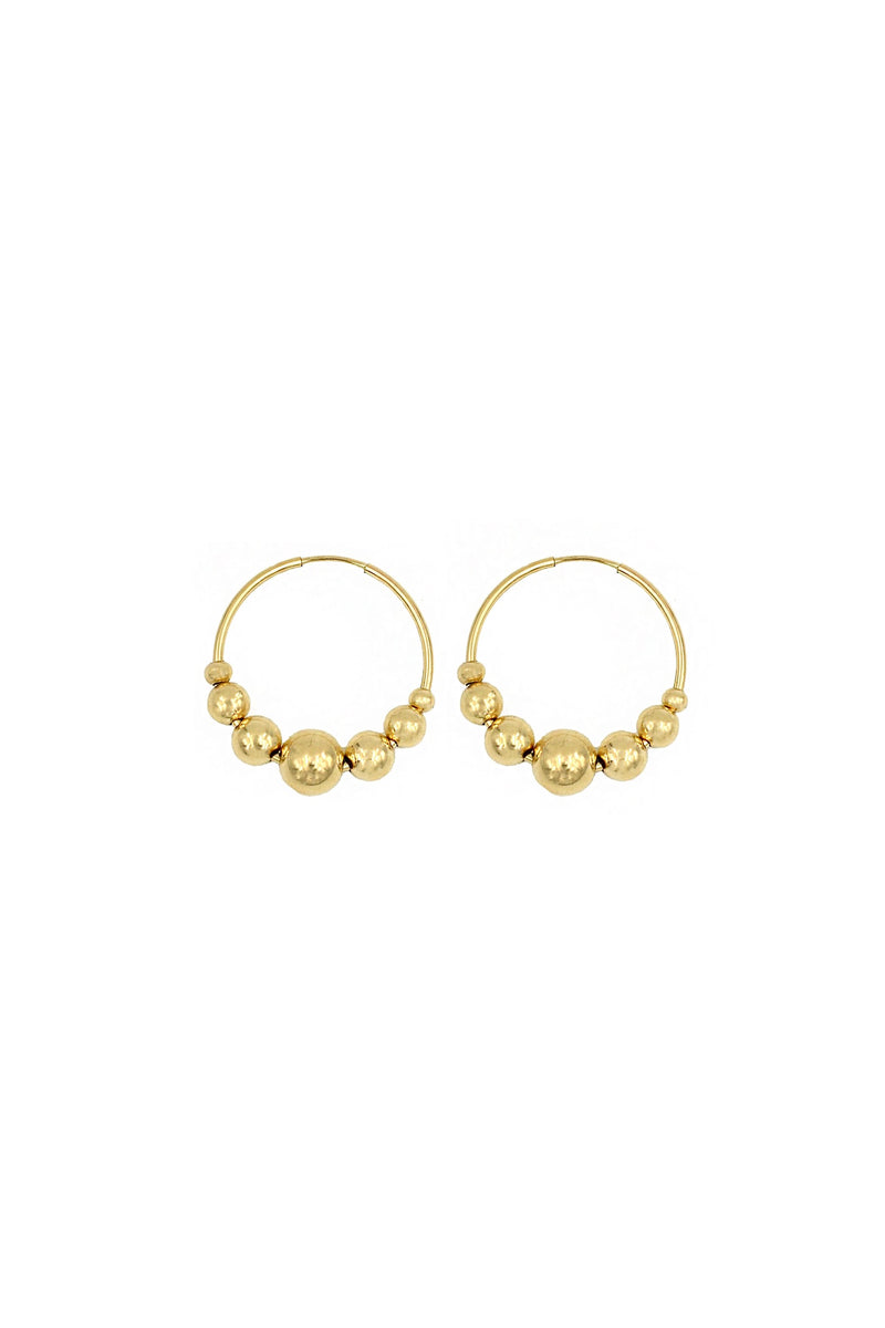 Gold Bauble Hoops