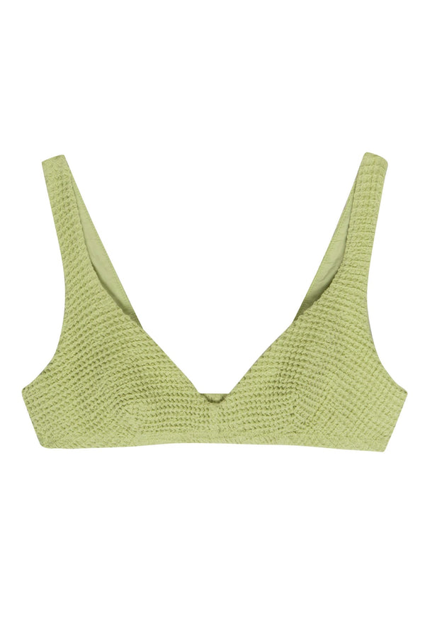 Lime Waffle Bralette