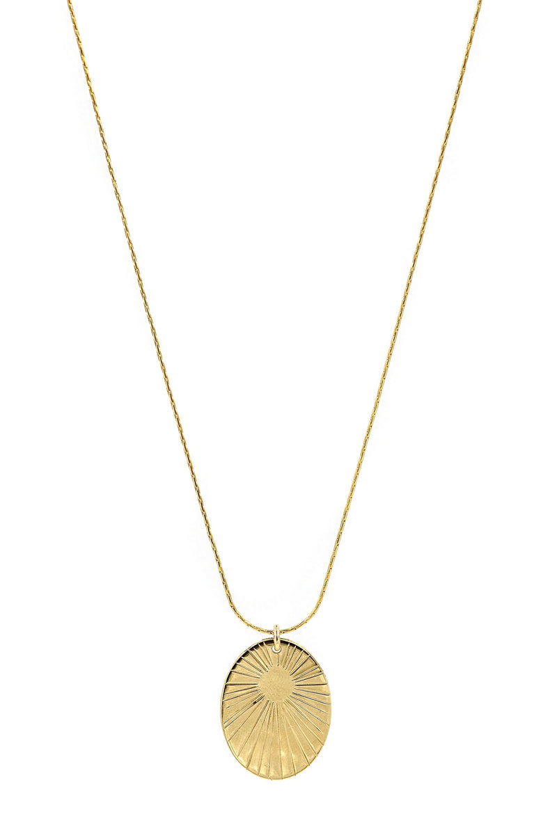 Gold Glow Oval Necklace