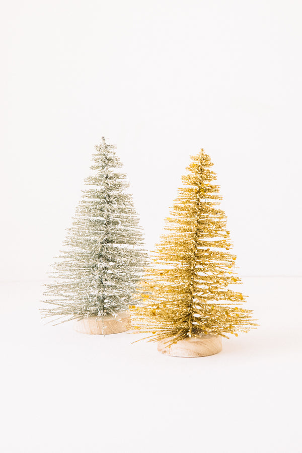 Swoopy Gold Glitter Tree