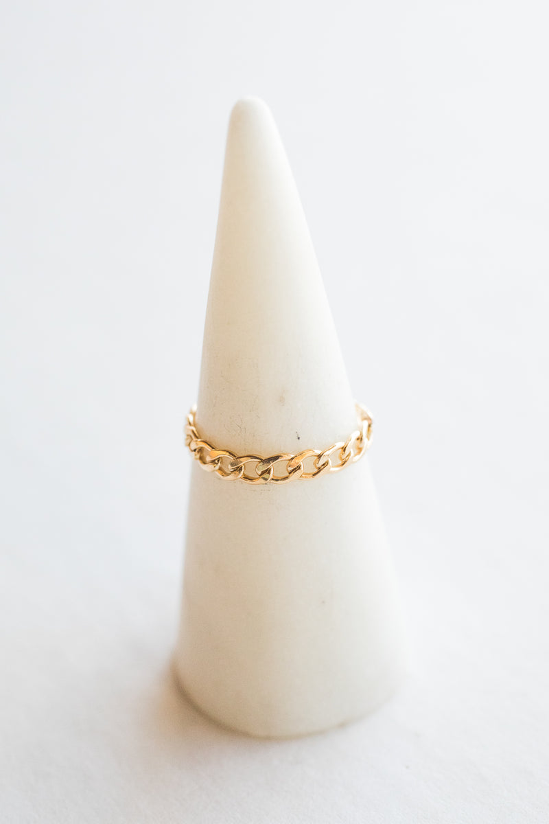 Gold Jen Chain Ring