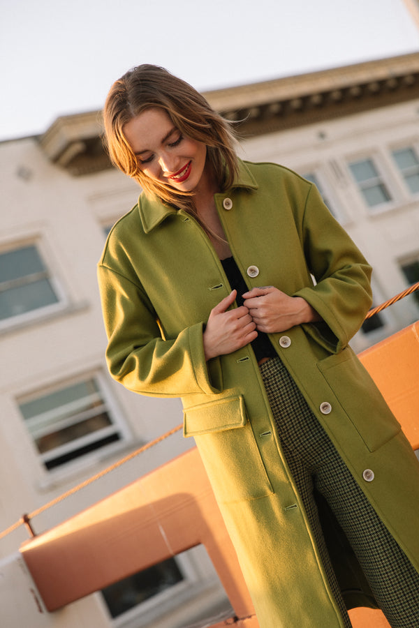 Green Olive Lagone Coat