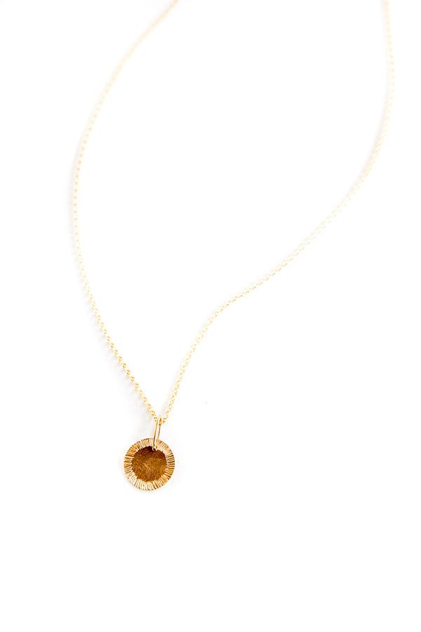 Gold Sun Rays Pendant Necklace
