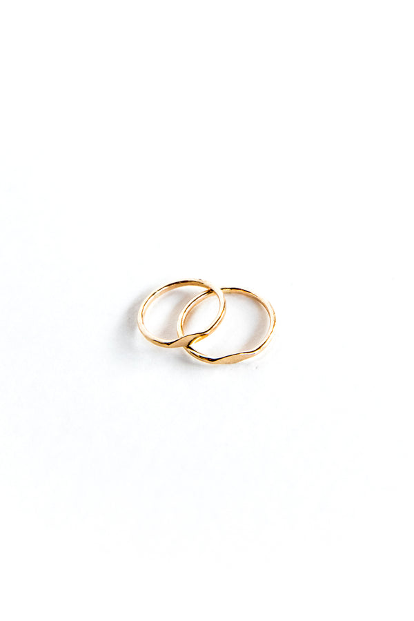 Gold Mini Signet Ring
