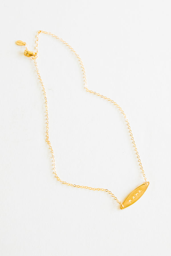 Gold Mama Marquis Necklace