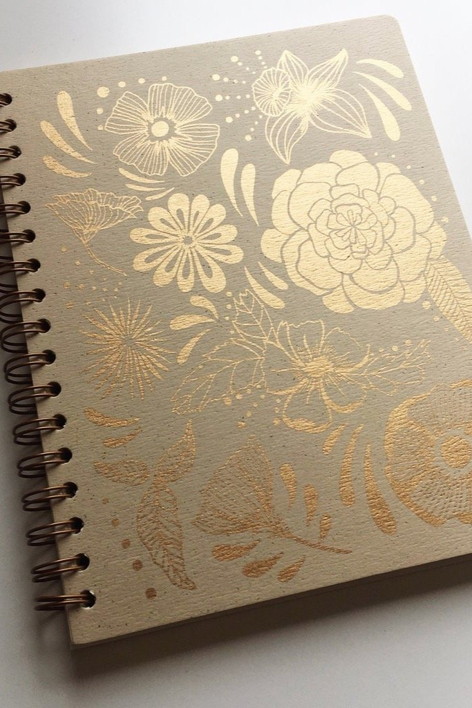 Flower Power Spiral Journal