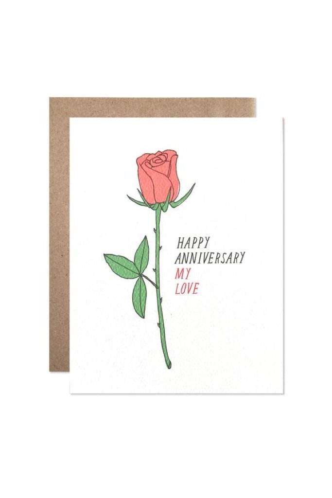Anniversary Rose Card
