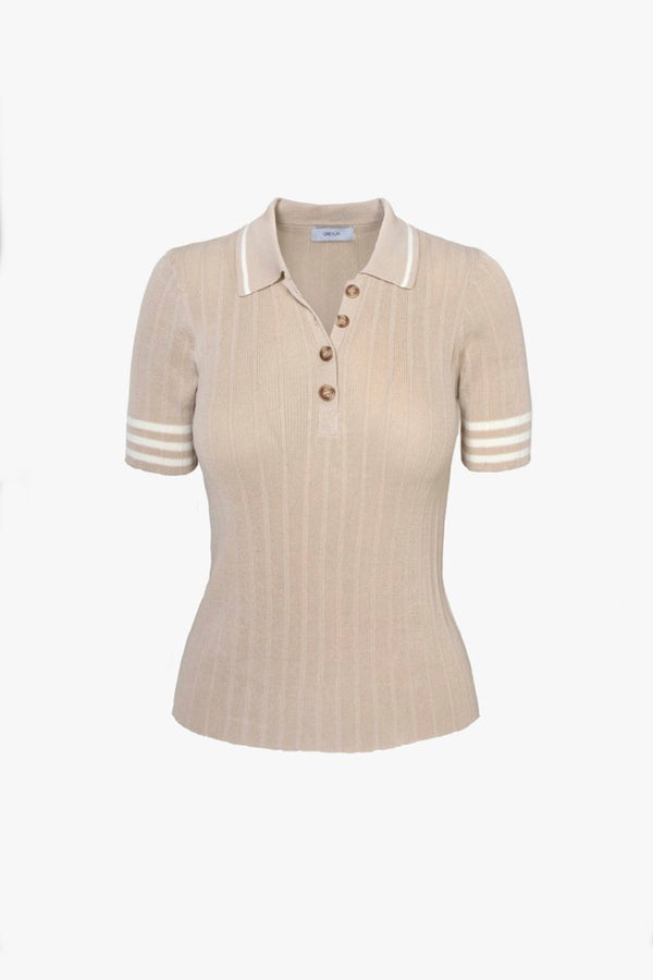 Tan Bruna Knit Top