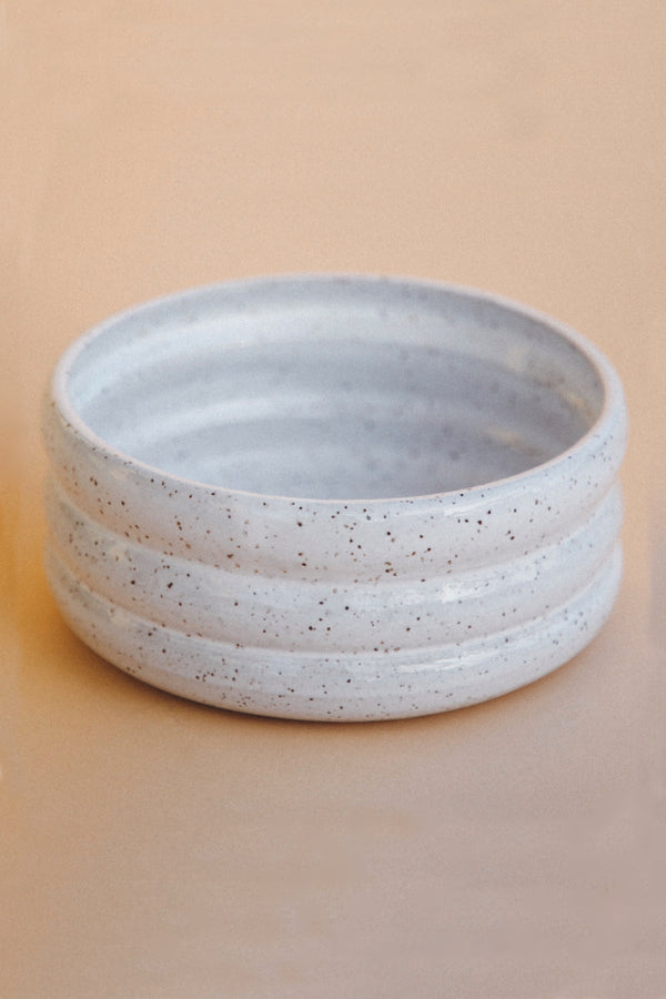 White Speckle Upland Bowl