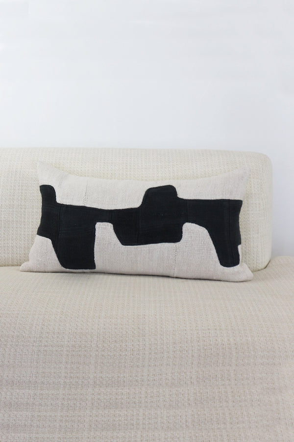 Black Forma Lumbar Pillow