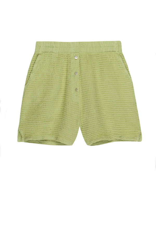 Lime Waffle Henley Short
