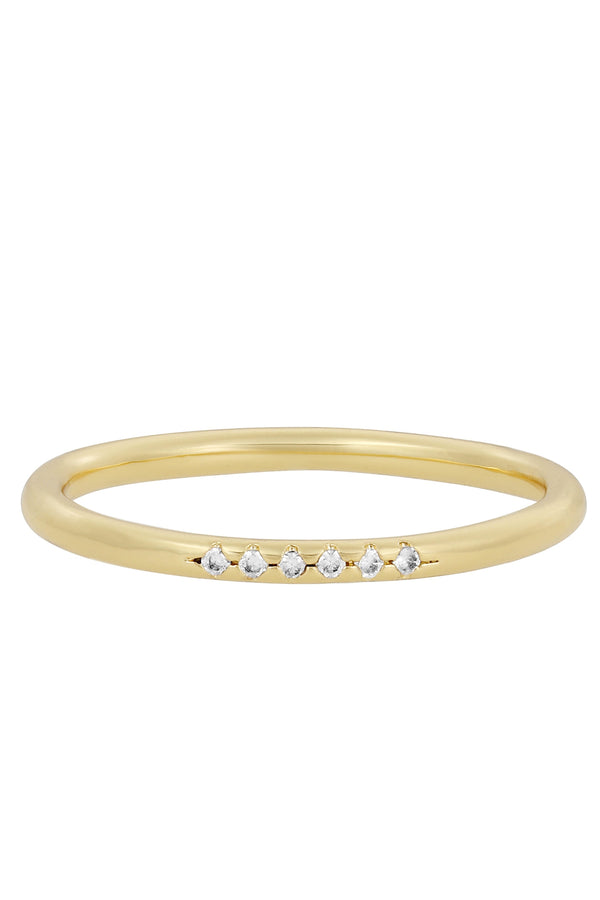 Gold CZ Blair Ring