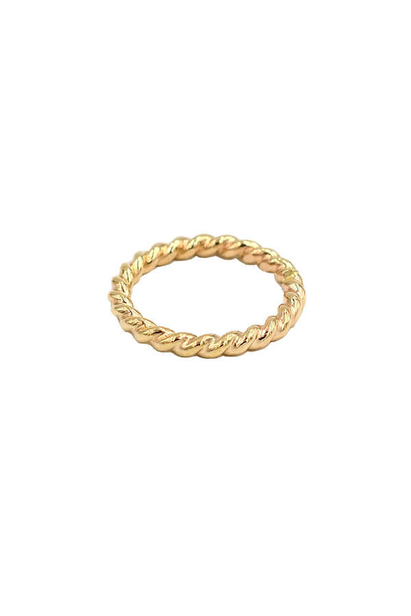 Gold Bold Rope Ring