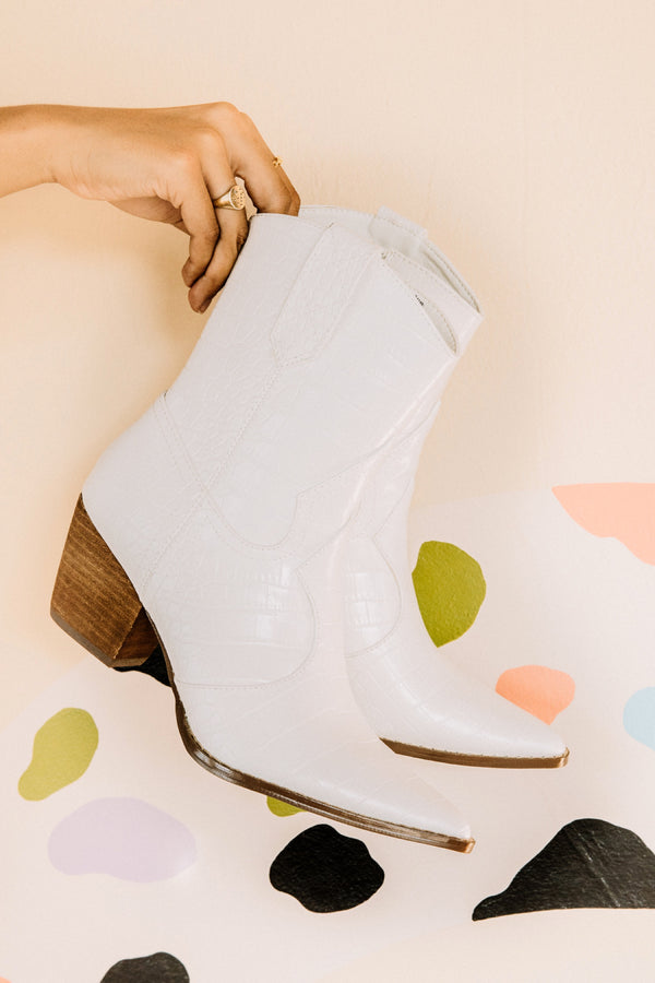 White Bambi Boot