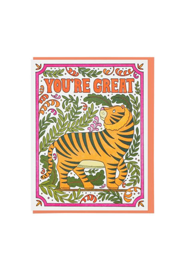 You're Great Tiger Card
