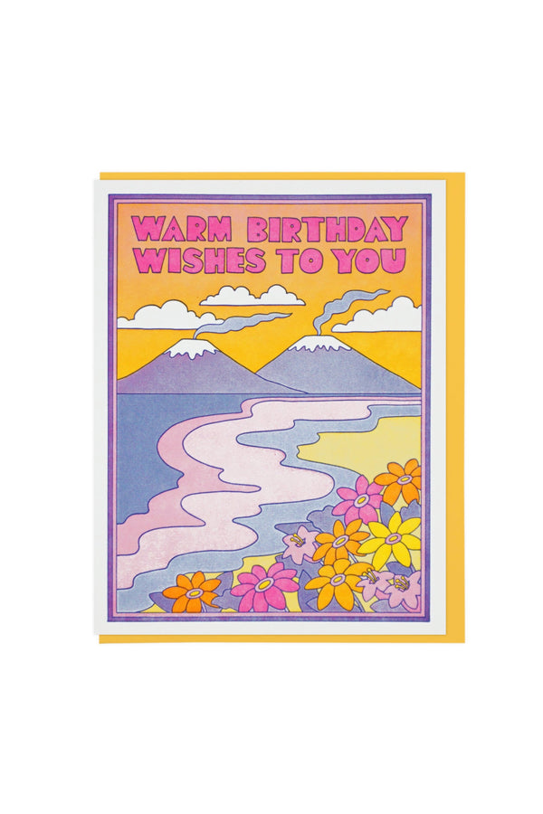 Warm Bday Wishes Card