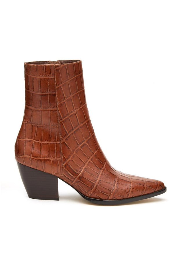 Brown Croc Caty Boot
