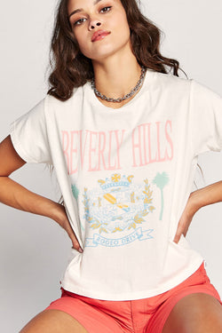 White Beverly Hills Girlfriend Tee