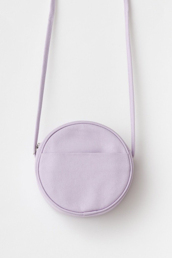 Lilac Canvas Circle Purse