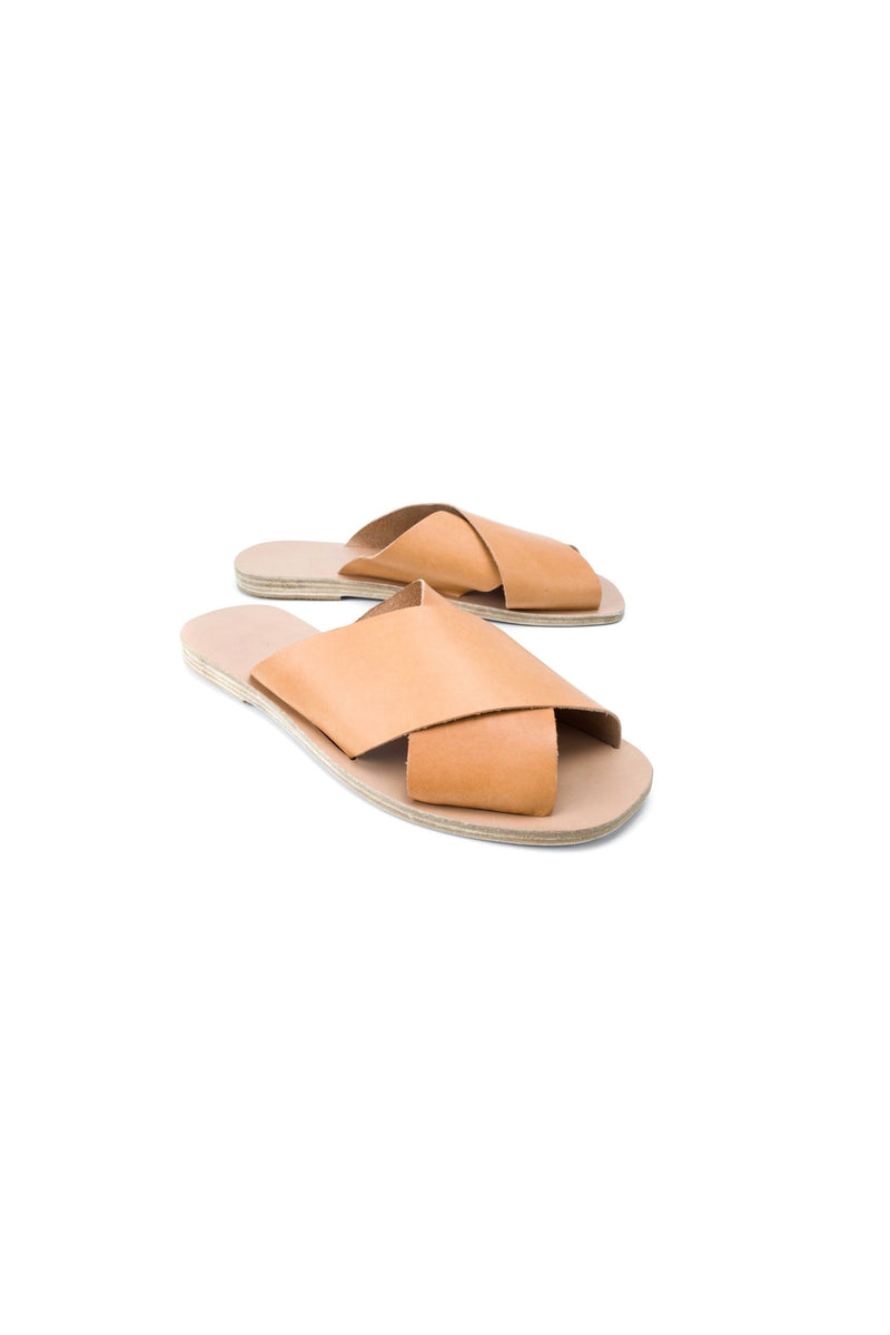 Natural Chios Square Sandal