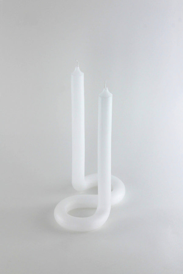 White Twist Candle
