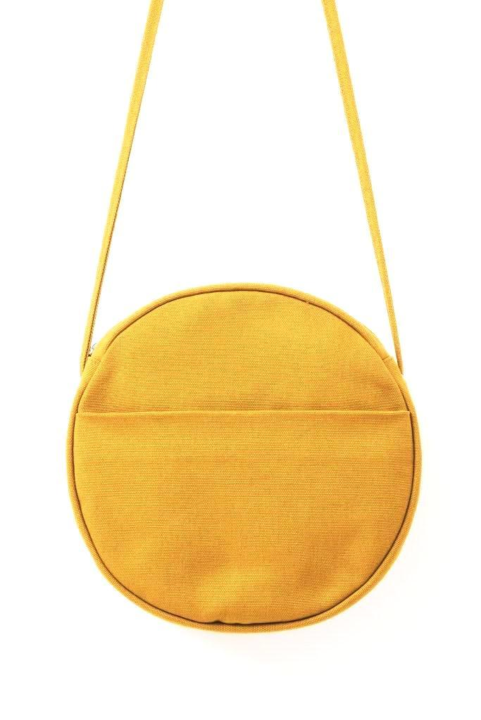Medium Ochre Canvas Circle Purse