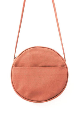 Medium Terracotta Canvas Circle Purse