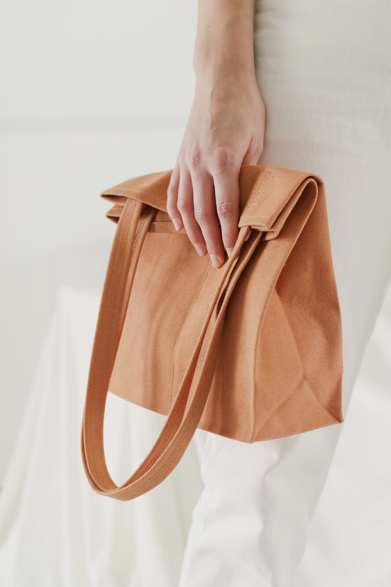 Pecan Canvas Retail Tote