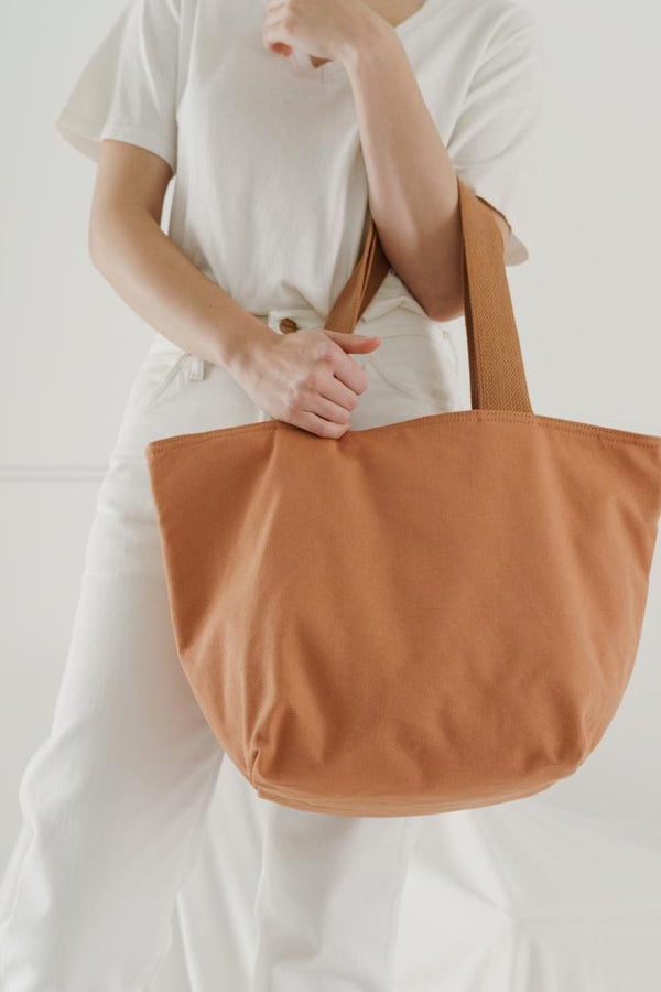 Pecan Canvas Zip Tote