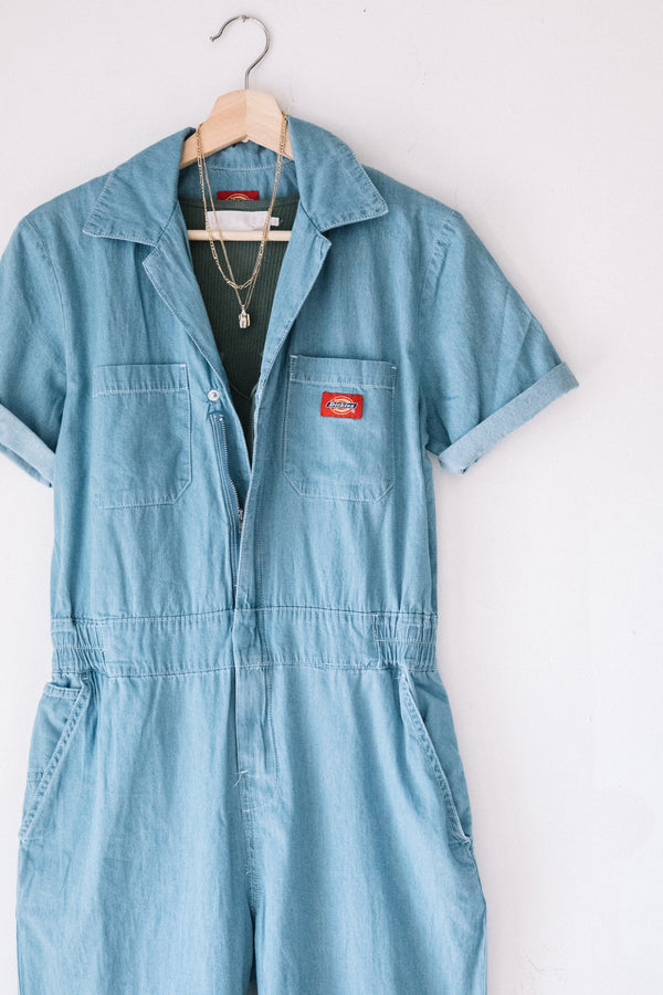 Chambray Short Sleeve Coveralls